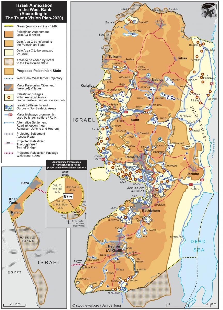 Trump's map for Israeli apartheid in detail